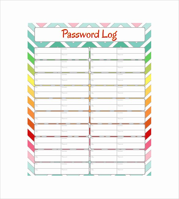 Password Log Template Pdf Best Of 9 Sample Password Spreadsheet Templates Pdf Doc Excel