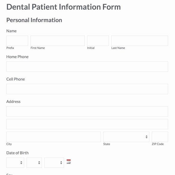 Patient Discharge form Template Best Of Dental Patient Information form Patient Discharge form