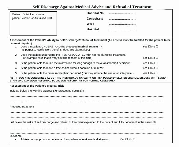 Patient Discharge form Template New form Template Hospital Discharge Example Exceptional