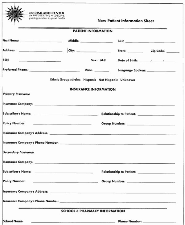 Patient Information form Template Awesome 28 Information Sheet Templates In Word
