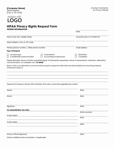 Patient Information form Template Inspirational Patient Health Information Request form Can Be Used by