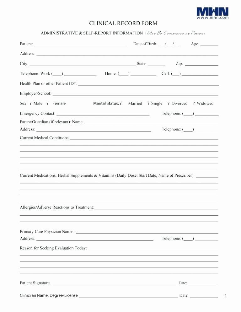 Patient Information form Template Inspirational Patient Information form Template Information Sheet