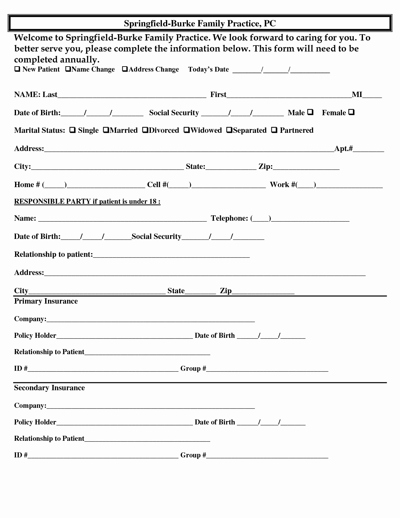Patient Information form Template Lovely 15 Best Of Basic Demographic Sheet Patient