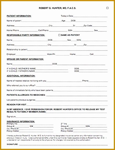 Patient Information form Template Luxury 3 Template for Patient Information Sheet