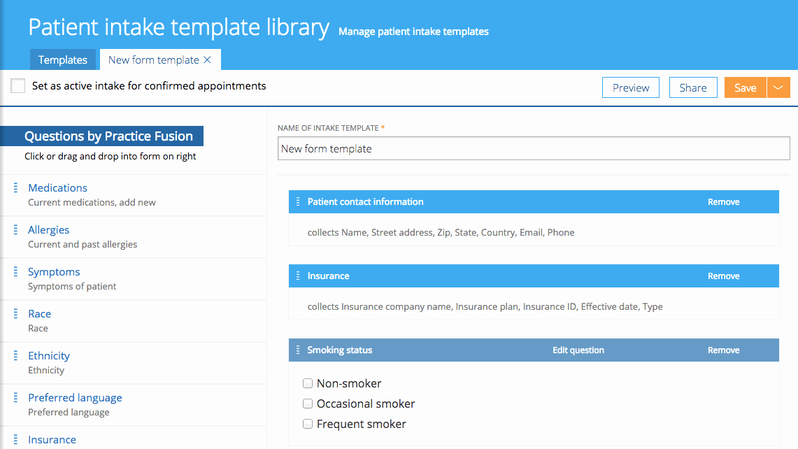 Patient Intake form Template Luxury Patient Intake form Templates