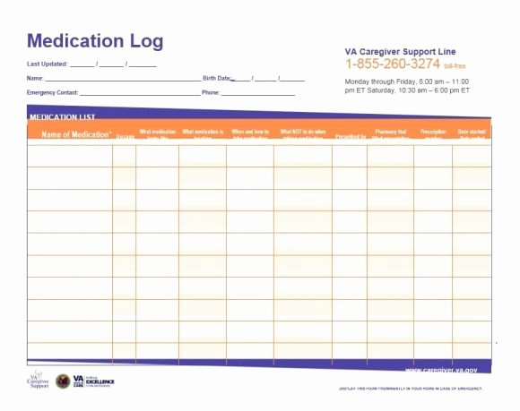 Patient Medication List Template Awesome 58 Medication List Templates for Any Patient [word Excel