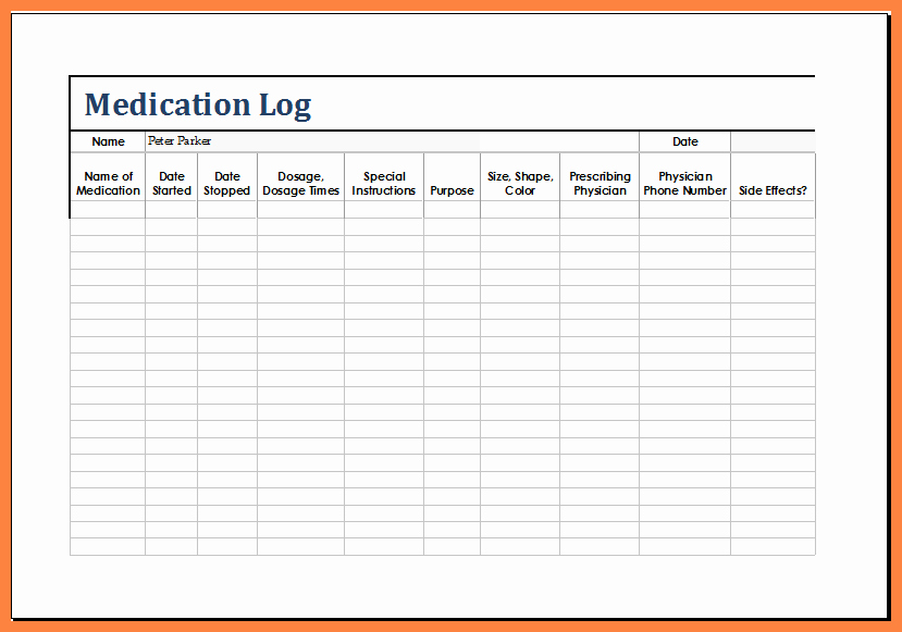 Patient Medication List Template Elegant 12 Medication List Template