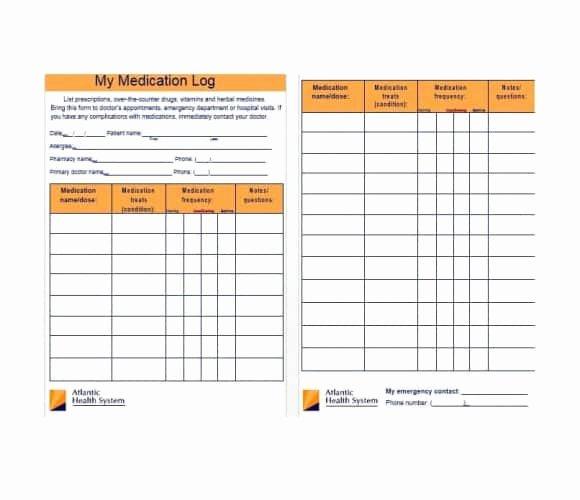 Patient Medication List Template Elegant 58 Medication List Templates for Any Patient [word Excel