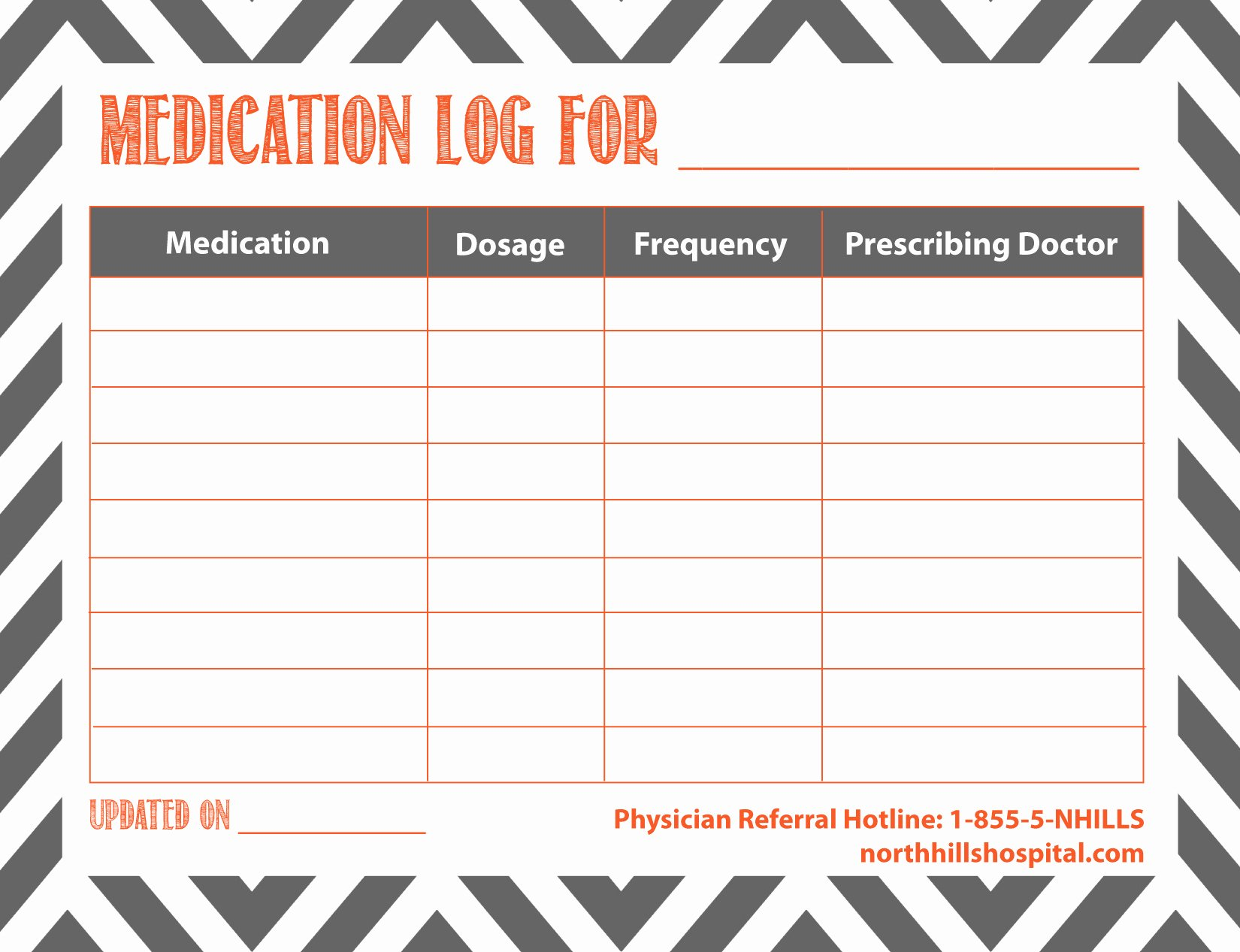Patient Medication List Template New Free Printable Medication Log