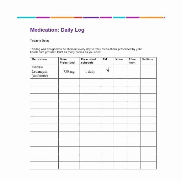 Patient Medication List Template Unique 58 Medication List Templates for Any Patient [word Excel