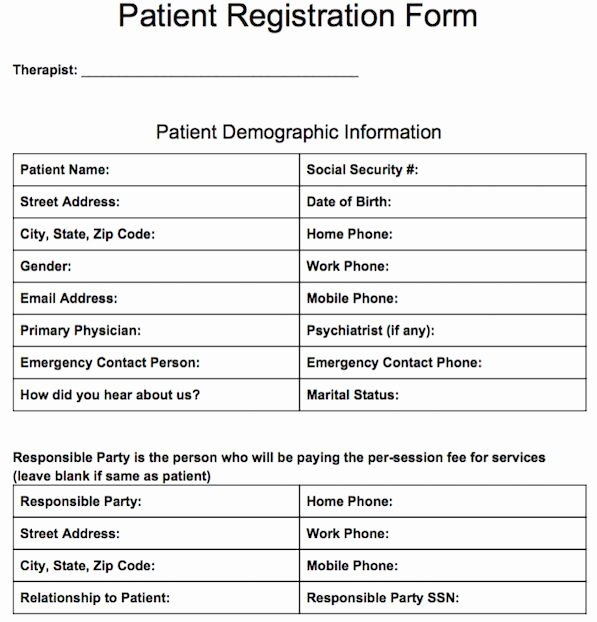 Patient Registration form Template Awesome 17 Best Images About Free Counseling Note Templates On