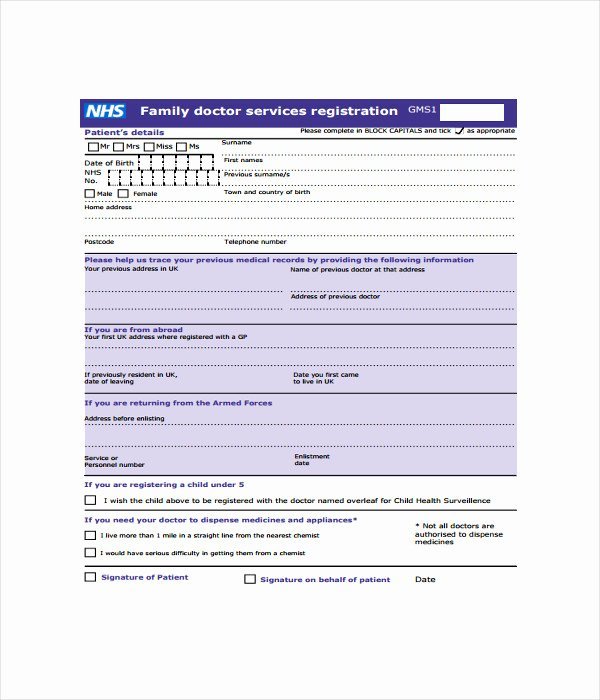 Patient Registration form Template Beautiful 11 Registration form Templates Free Word Pdf Documents