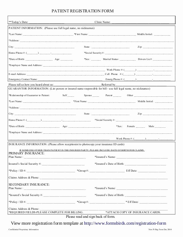 Patient Registration form Template Elegant Registration form Template