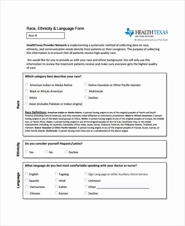 Patient Registration form Template Inspirational Sample Patient Registration form 8 Free Documents