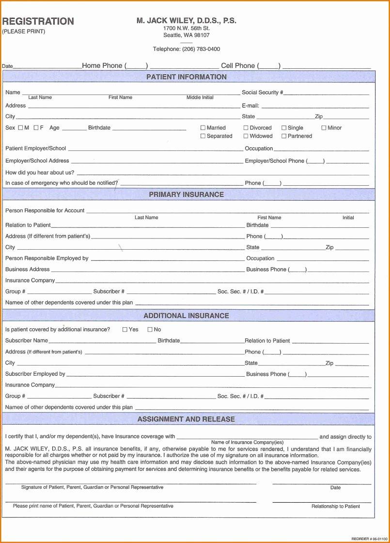 Patient Registration form Template Luxury Dental Patient Registration form Template Cbcecb On Line
