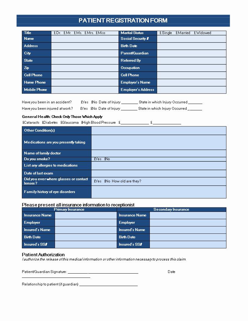 Patient Registration form Template New Patient Registration form are You Looking for A Patient