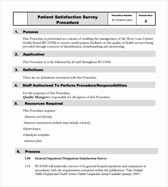 Patient Satisfaction Survey Template Lovely 10 Patient Satisfaction Survey Samples
