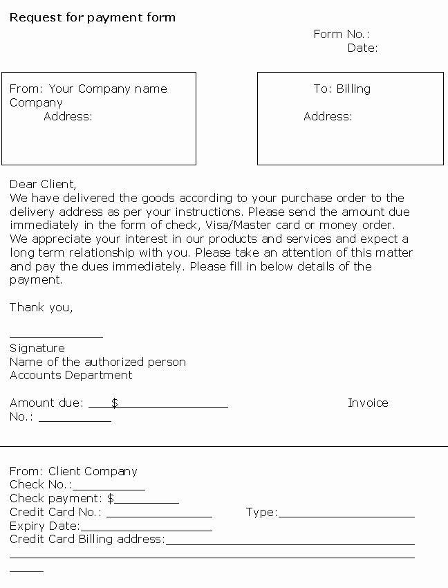 Payment Request form Template Beautiful Request Payment form Template