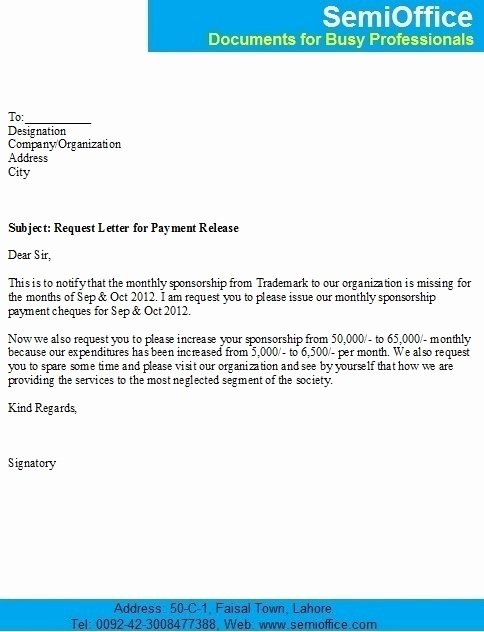 Payment Request form Template Best Of Business Letter Template Request Payment