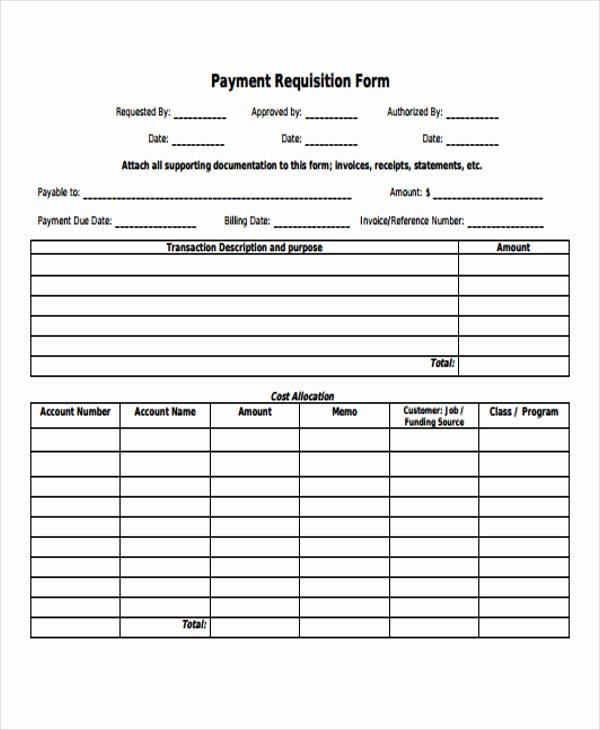 Payment Request form Template Unique 43 Free Requisition forms