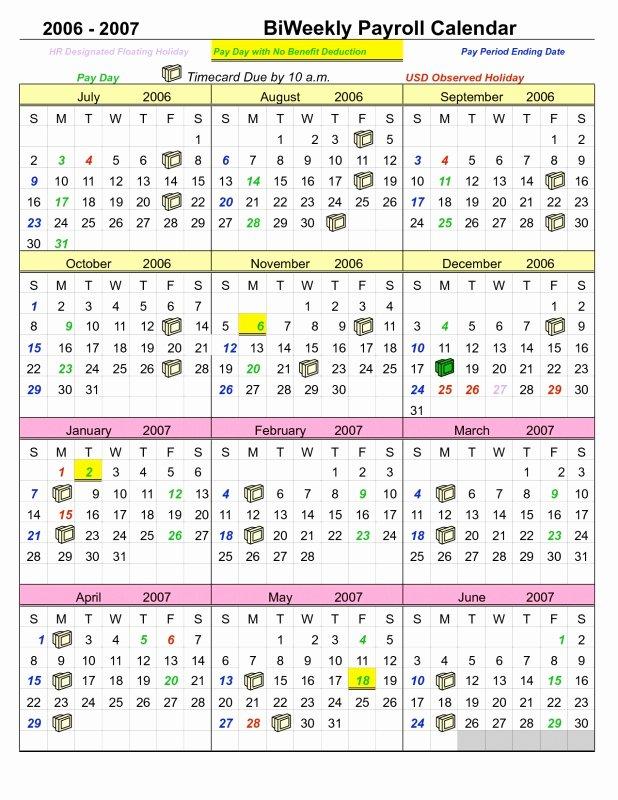 Payroll Calendar Template 2017 Fresh 2017 Biweekly Payroll Calendar – Calendar Template 2019
