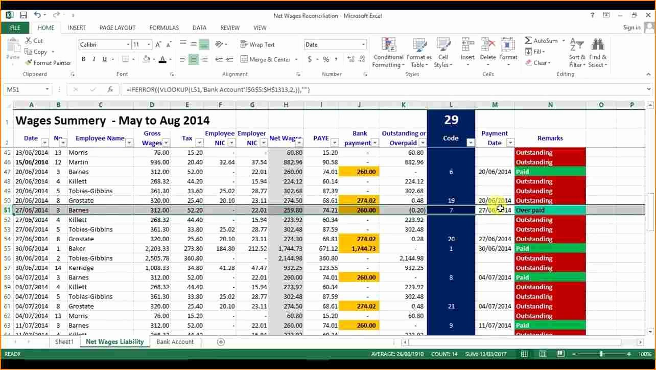 Payroll Reconciliation Excel Template New 6 Payroll Reconciliation Template Excel