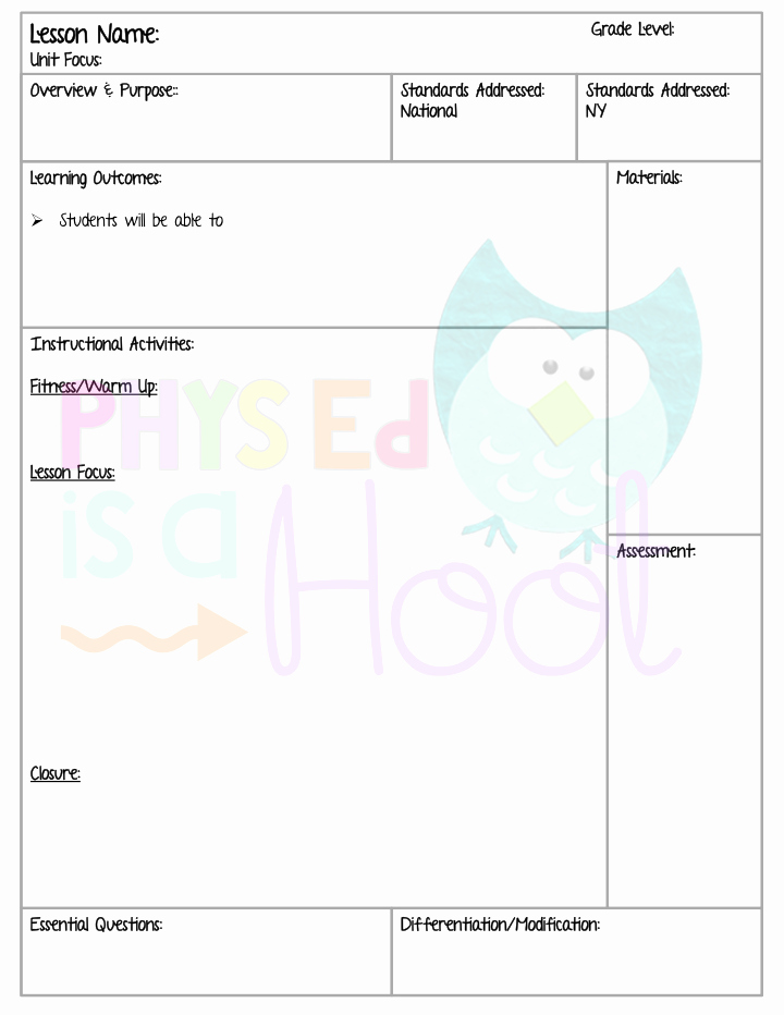 Pe Lesson Plan Template Lovely Time to Get organized Tap the Pin if You Love Super