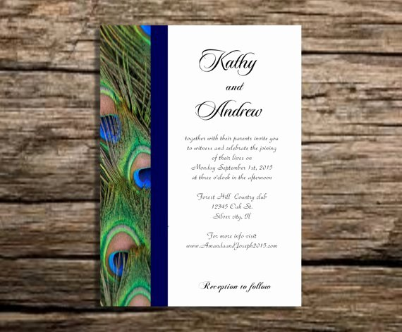 Peacock Invitations Template Free Beautiful Peacock Wedding Invitation Template Instant by Partytemplates