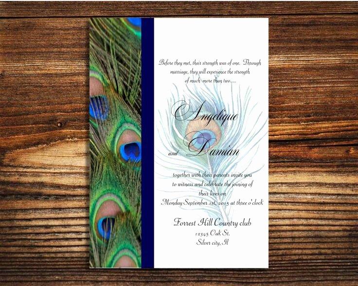 Peacock Invitations Template Free Elegant Instant Template Peacock Wedding Invitation