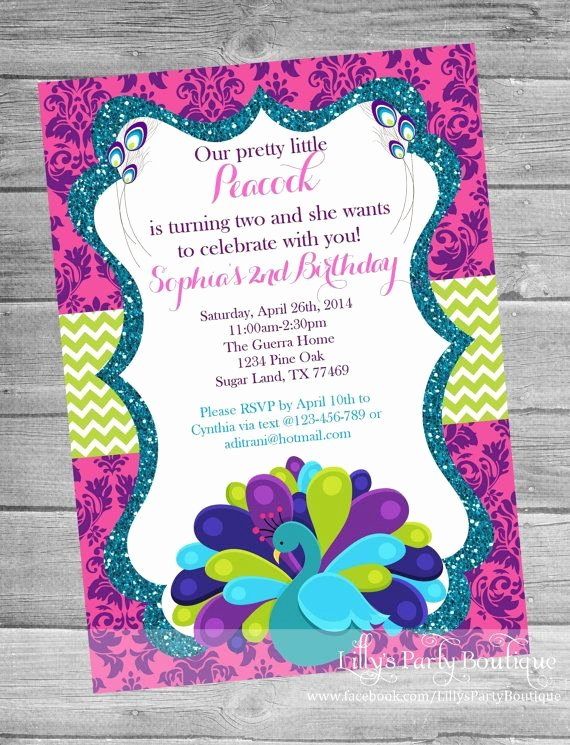 Peacock Invitations Template Free Fresh 25 Best Ideas About Peacock Birthday Party On Pinterest