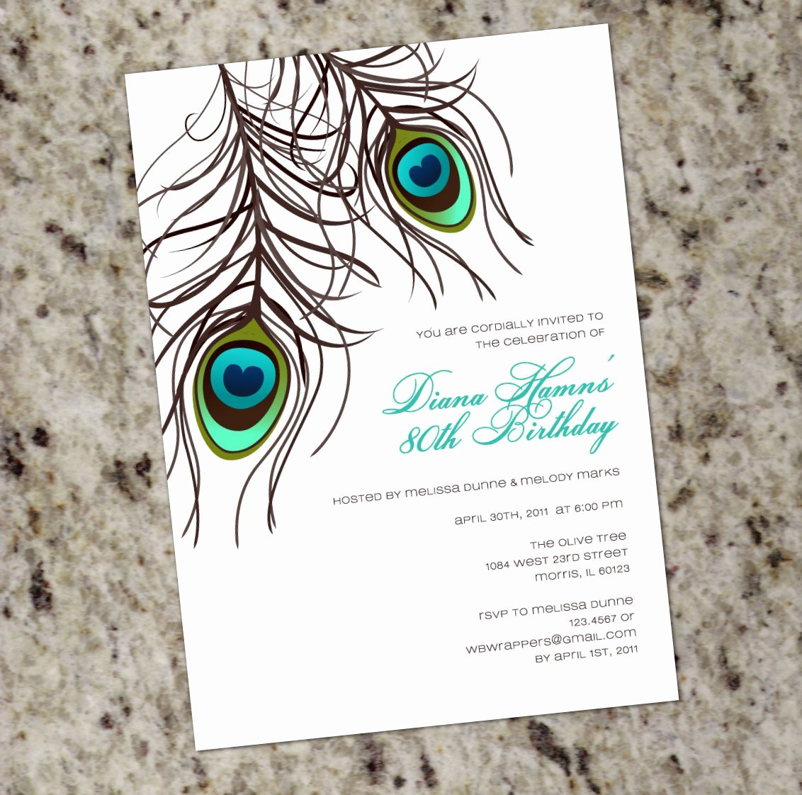 Peacock Invitations Template Free Fresh Peacock Feather Invitation Template