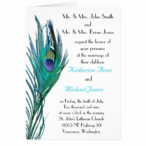 Peacock Invitations Template Free New Peacock Wedding Invitation Template