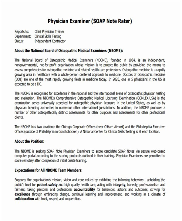 Pediatric soap Note Template Inspirational 14 soap Note Examples Pdf