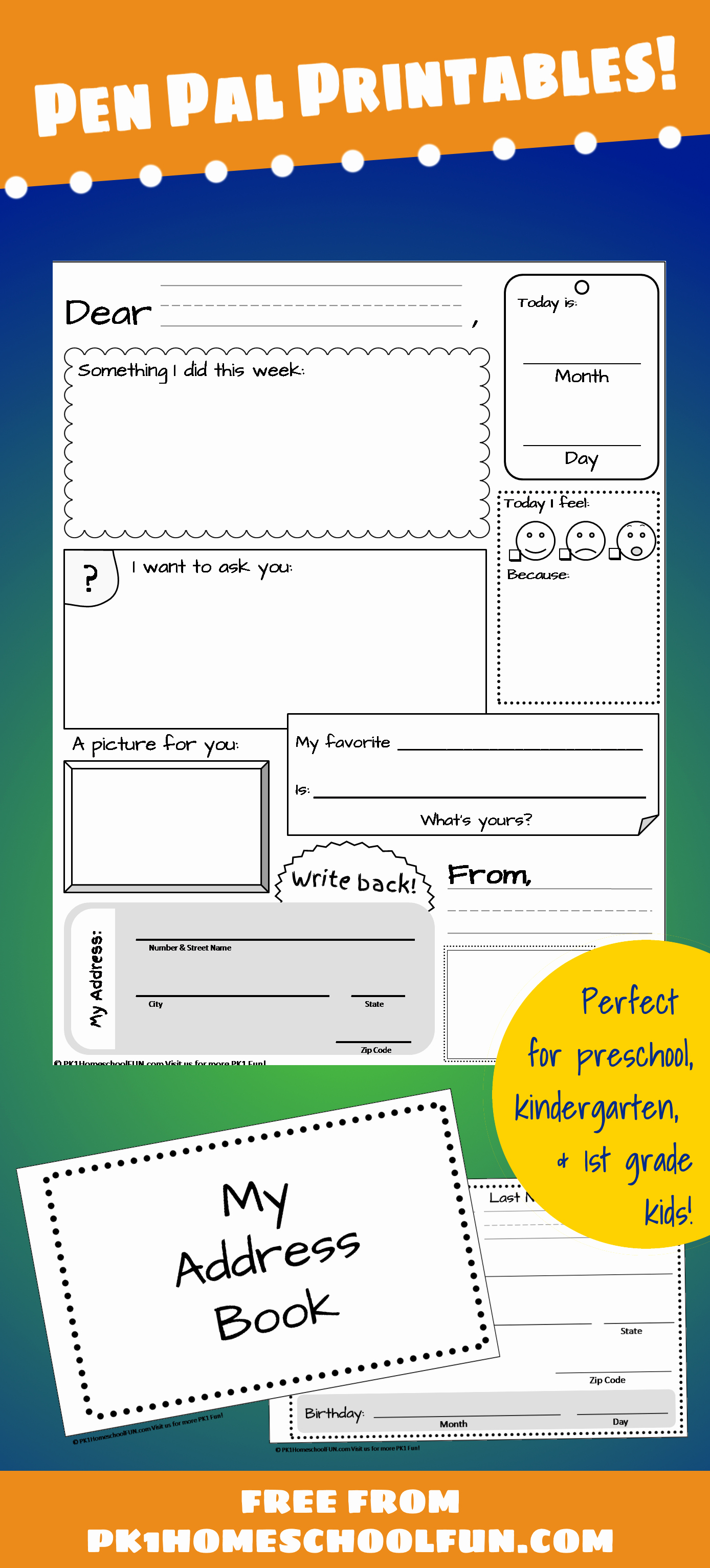 Pen Pal Letter Template Beautiful Free Pen Pal Printables