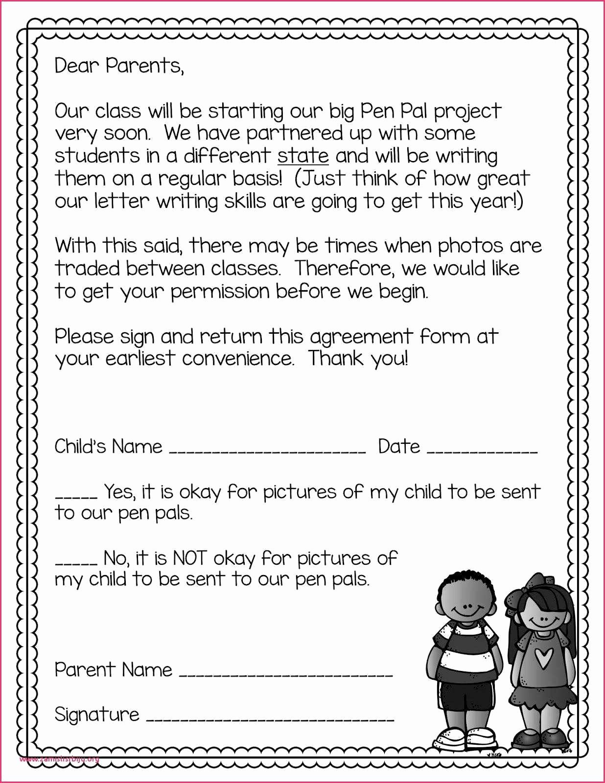 Pen Pal Letter Template Fresh Writing A Letter to A Penpal Example Pen Pal Letter