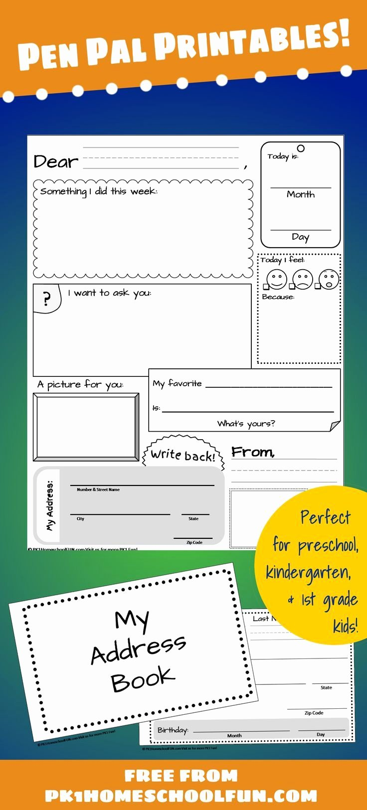 Pen Pal Letter Template Inspirational Free Pen Pal Printables for Kids Handwriting