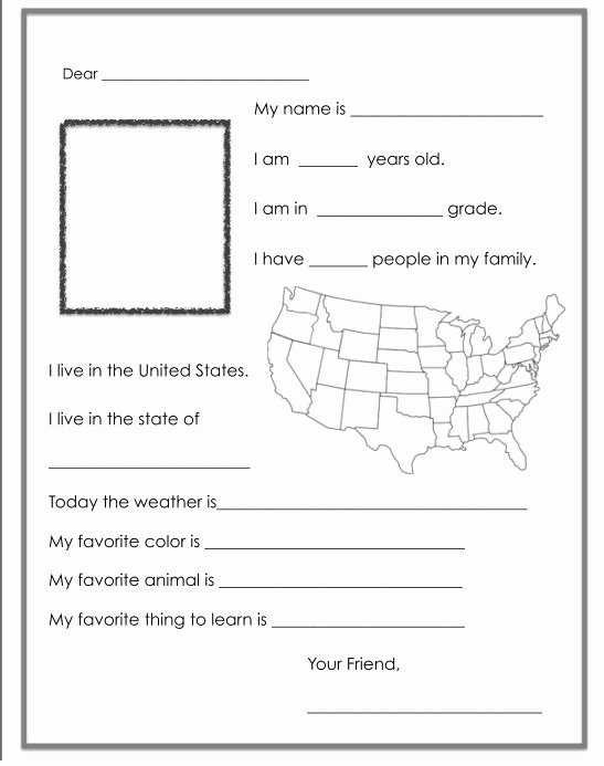 Pen Pal Letter Template Lovely 17 Best Fall Templates and Writing Ideas Images On