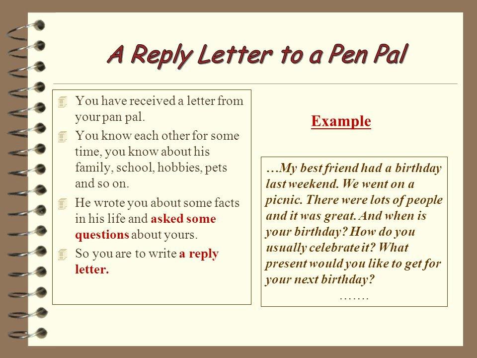 Pen Pal Letter Template New Pen Pal Letter Ideas T