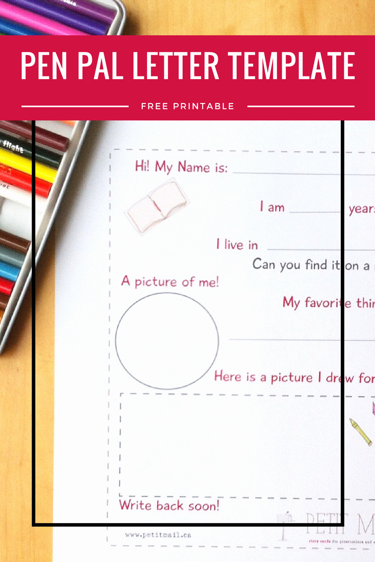 Pen Pal Letter Template New Pen Pal Letter Template A Free Printable Pen Pal Template