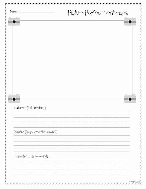 Pen Pal Letter Template New Picture Perfect Sentences Writing 3 Types Of Sentences