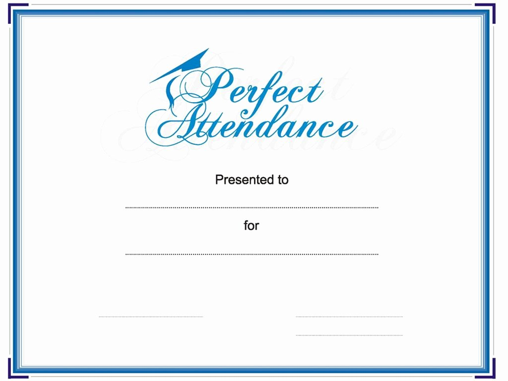 Perfect attendance Award Template Awesome Award Your Student or Employee for Perfect attendance