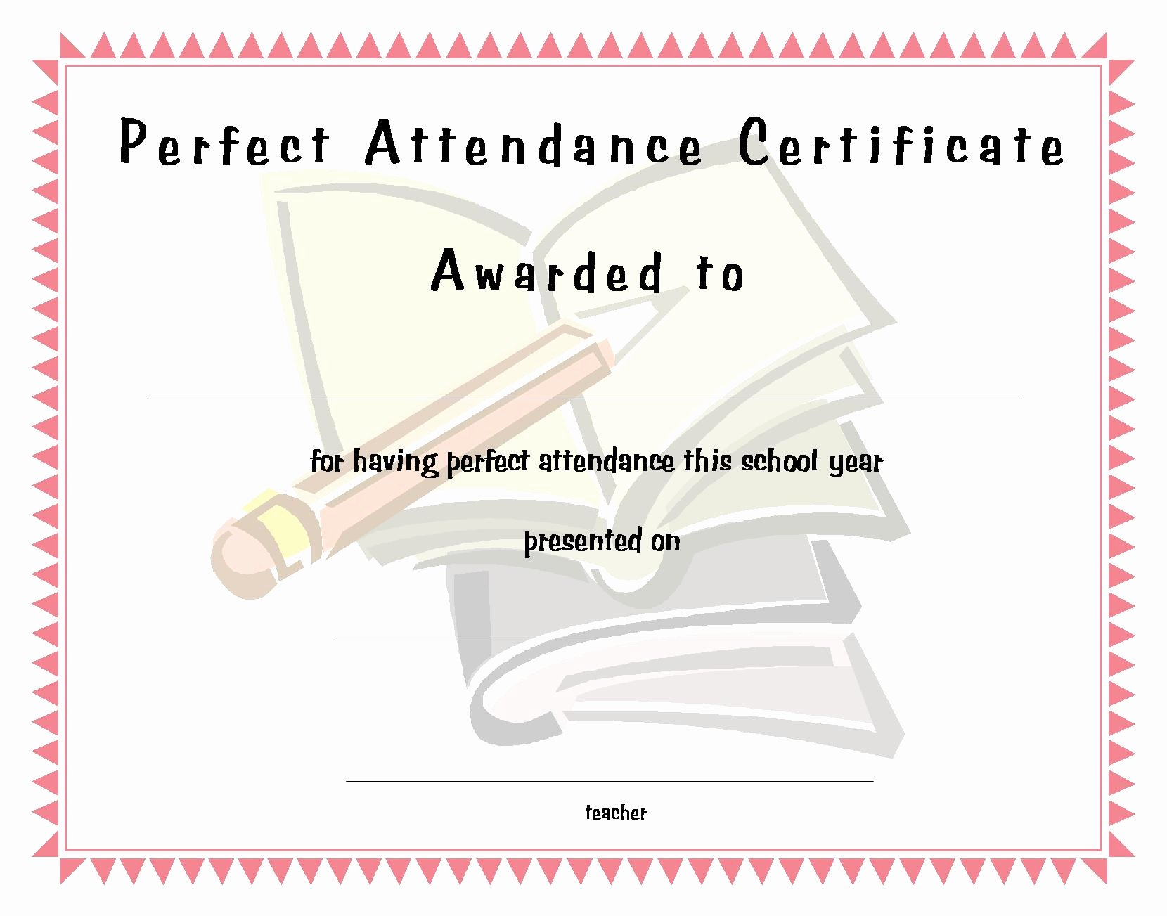 Perfect attendance Award Template New Perfect attendance Funny Quotes Quotesgram