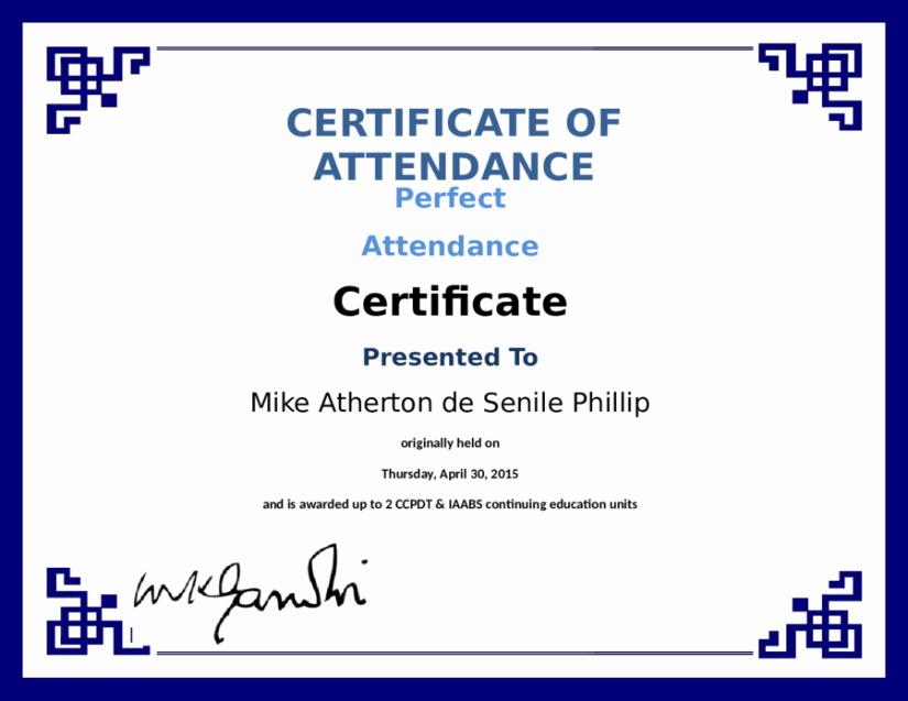 Perfect attendance Certificate Template Fresh 5 Certificate Of attendance Templates Word Excel Templates