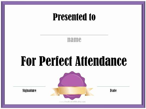 Perfect attendance Certificate Template Luxury 21 attendance Certificate Templates Doc Pdf Psd