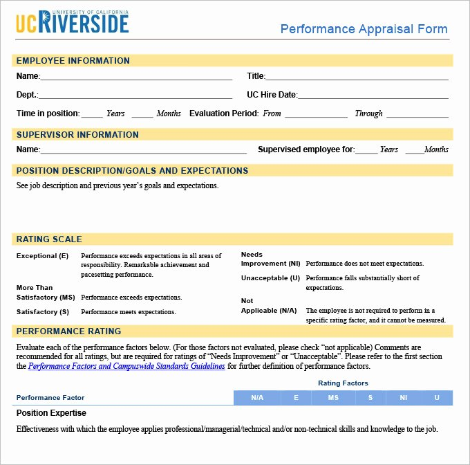 Performance Appraisal form Template Lovely 13 Sample Hr Appraisal forms Pdf Doc