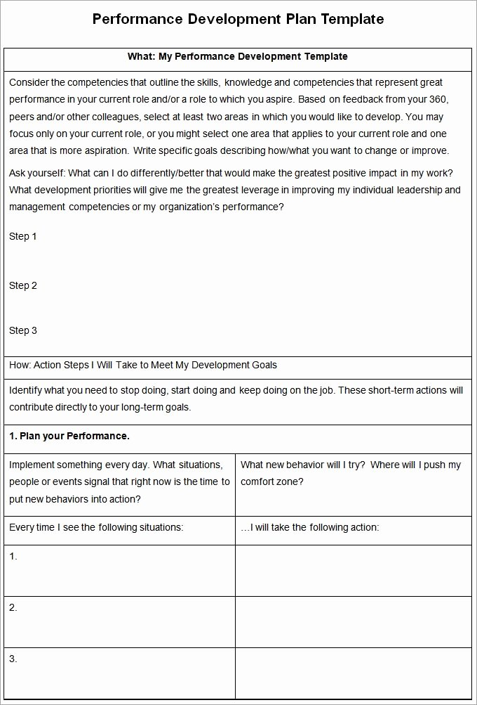 Performance Development Plan Template Beautiful Performance Development Plan Template Development Plan