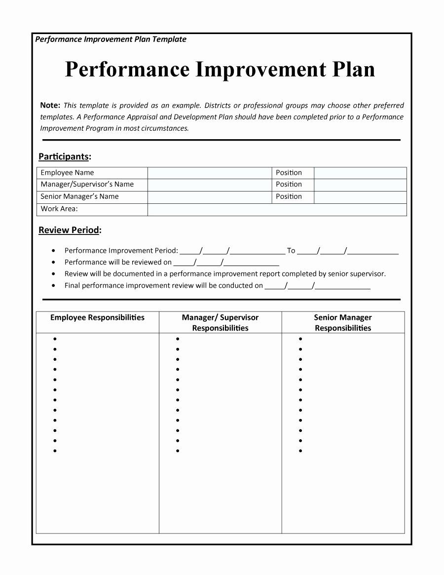 Performance Development Plan Template Luxury 40 Performance Improvement Plan Templates & Examples