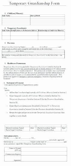 Permanent Guardianship Letter Template Fresh Guardianship Template Permanent Guardianship Letter