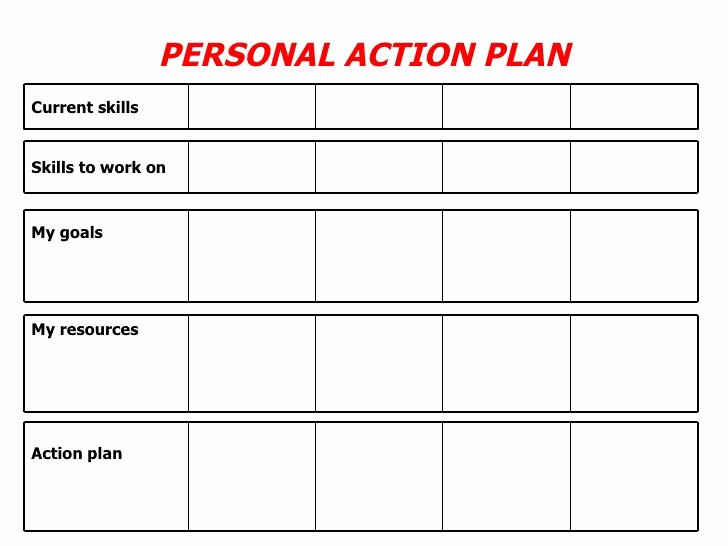 Personal Action Plan Template Lovely Personal Action Plan