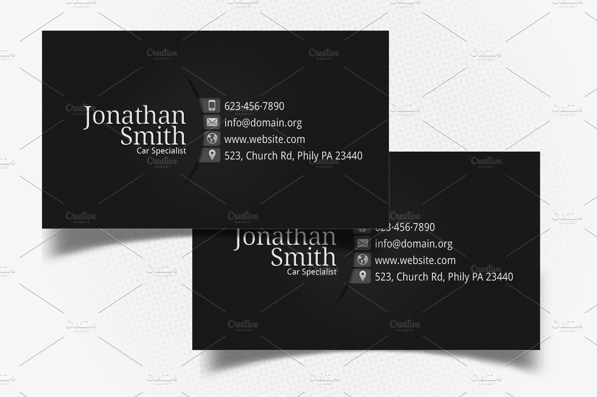 Personal Business Cards Template Awesome Black Grey Personal Business Card Business Card